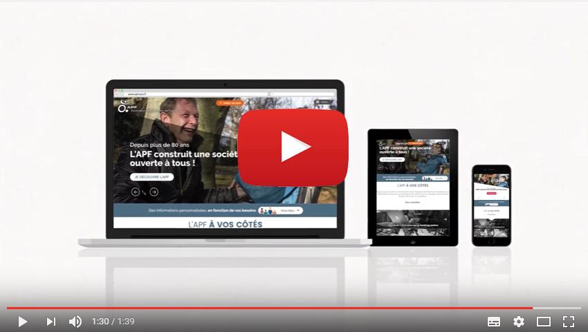 Vidéo présentation site internet APF